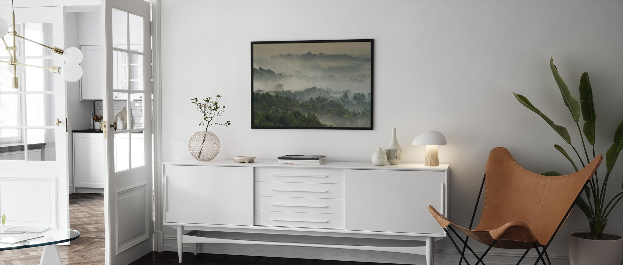 Temple in the Mist - Framed print - Living Room