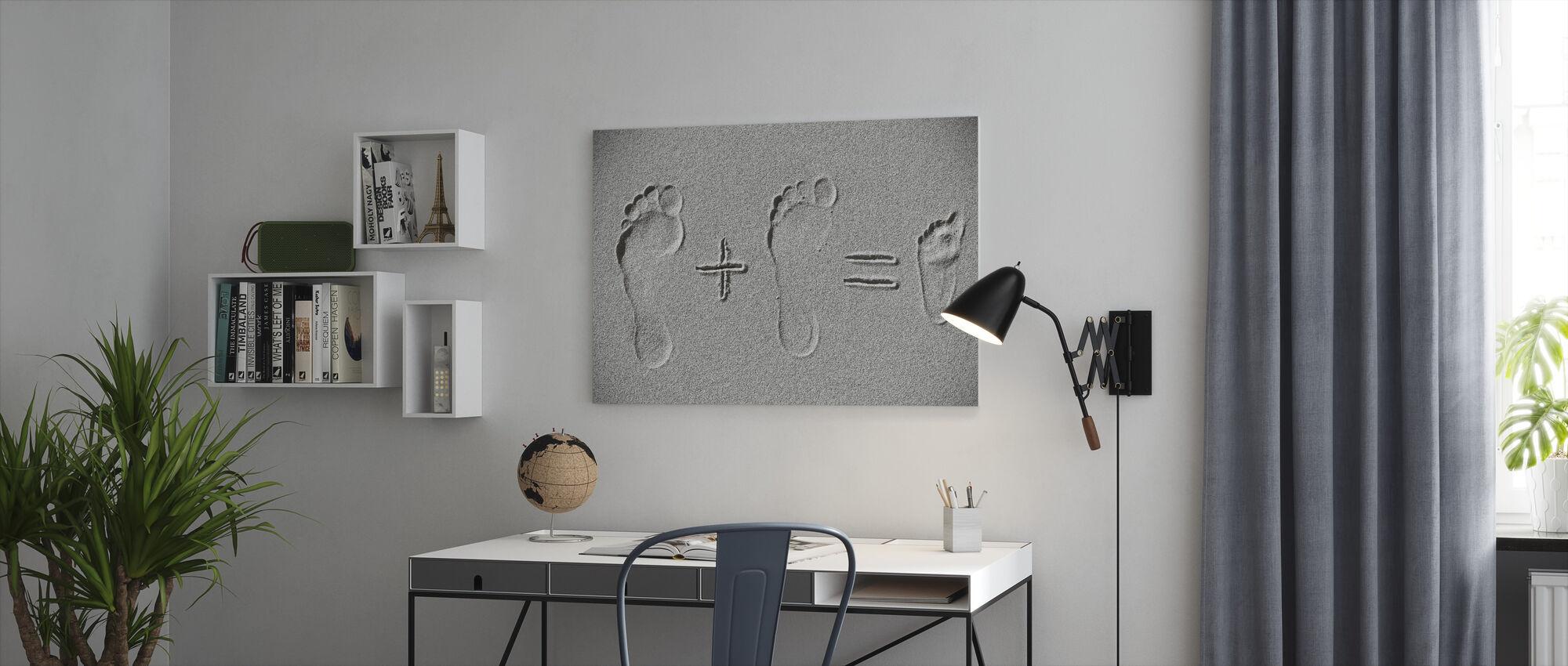 Sand aritmetik - Canvastavla - Kontor