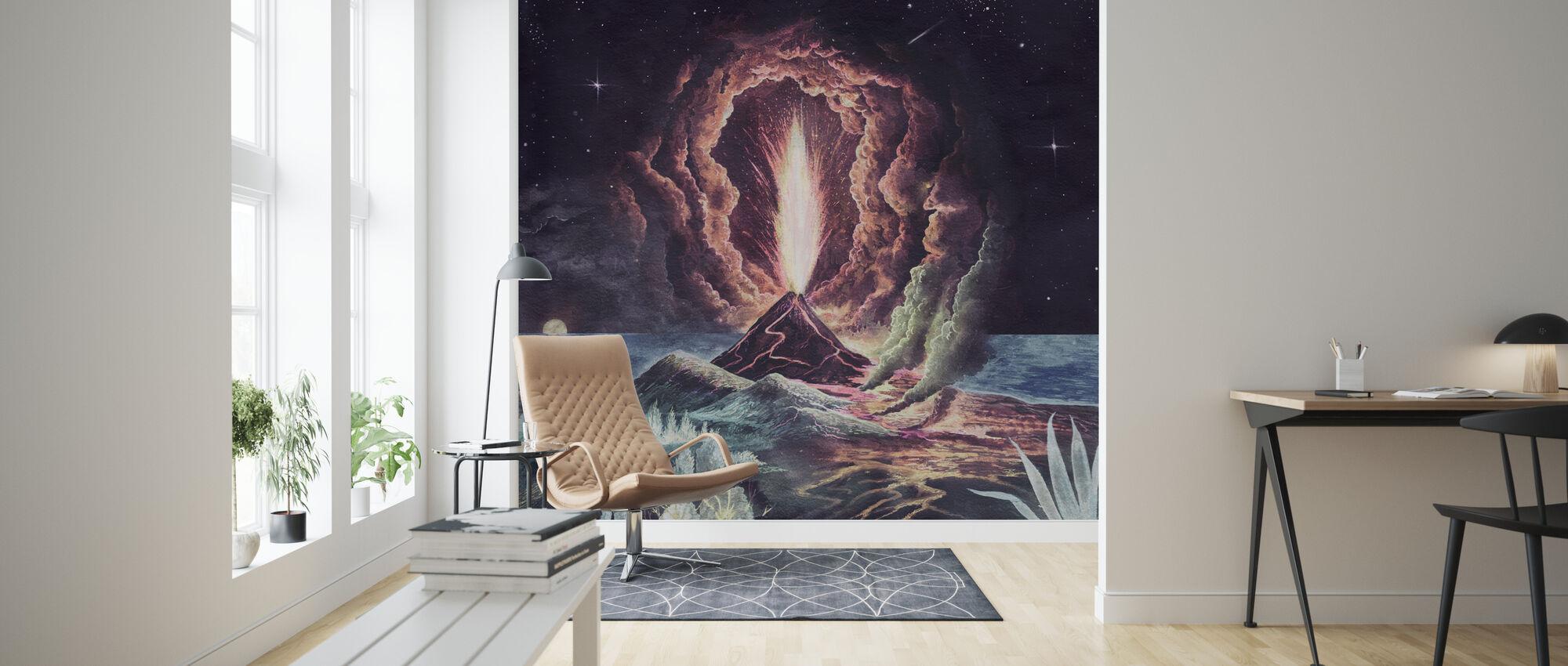 Volcano Eruption - Wallpaper - Living Room