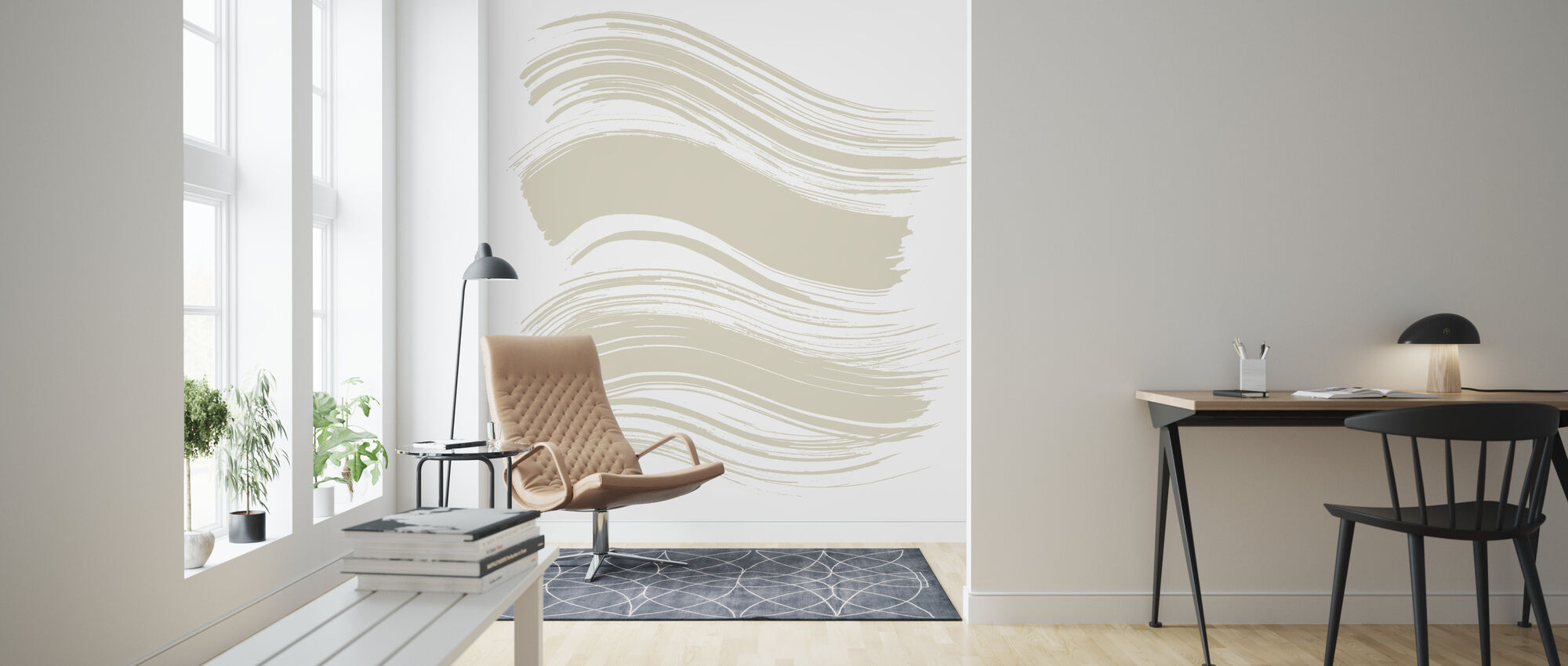 Wave - Bright Plage - Wallpaper - Living Room