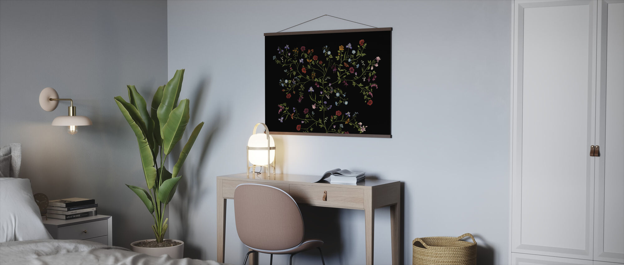 Flora - Black - Poster - Office