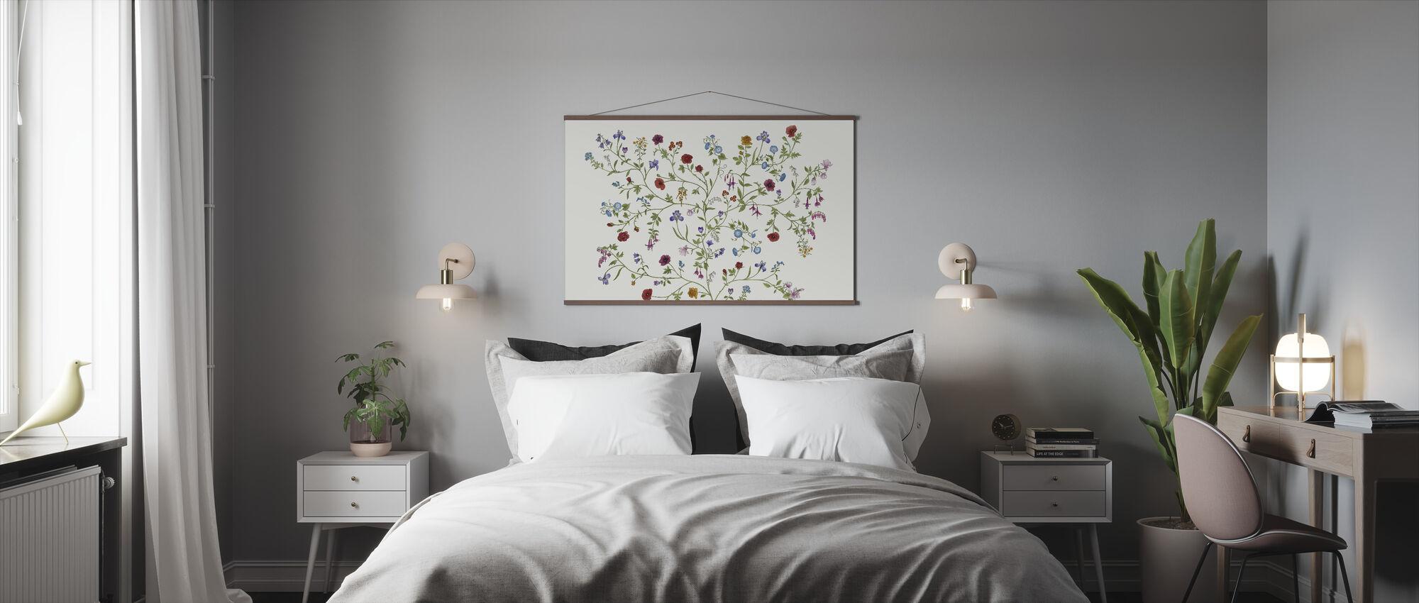 Flora - White - Poster - Bedroom