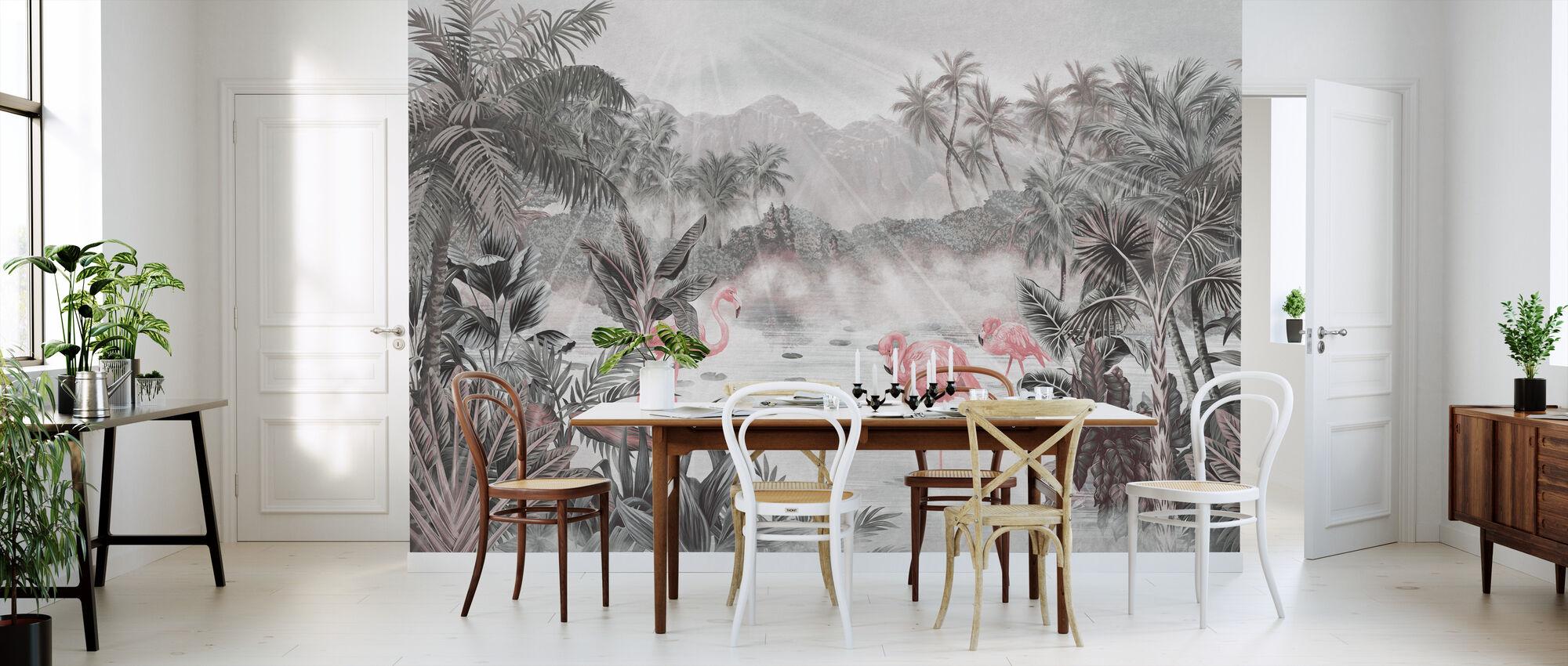 Flamingo Essay - Pearl - Wallpaper - Kitchen