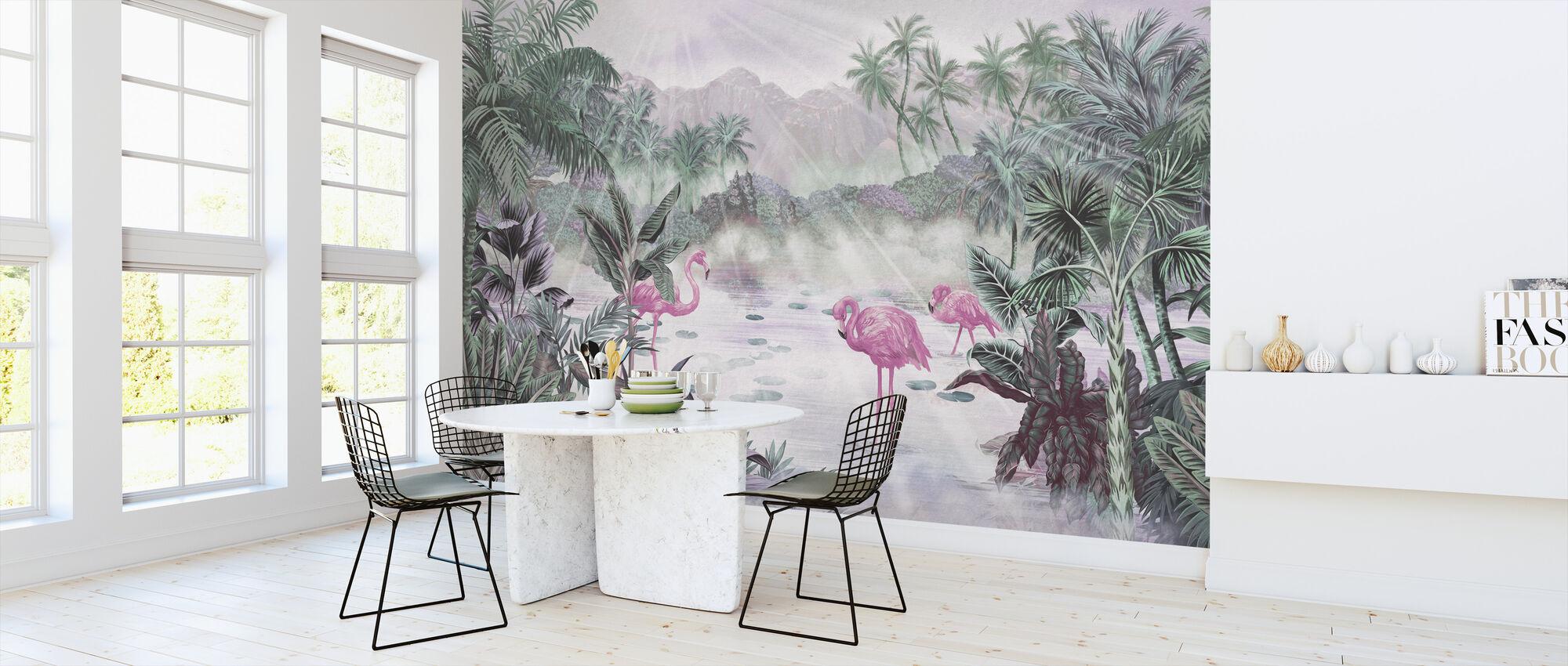 Flamingo Essay - Rose - Wallpaper - Kitchen