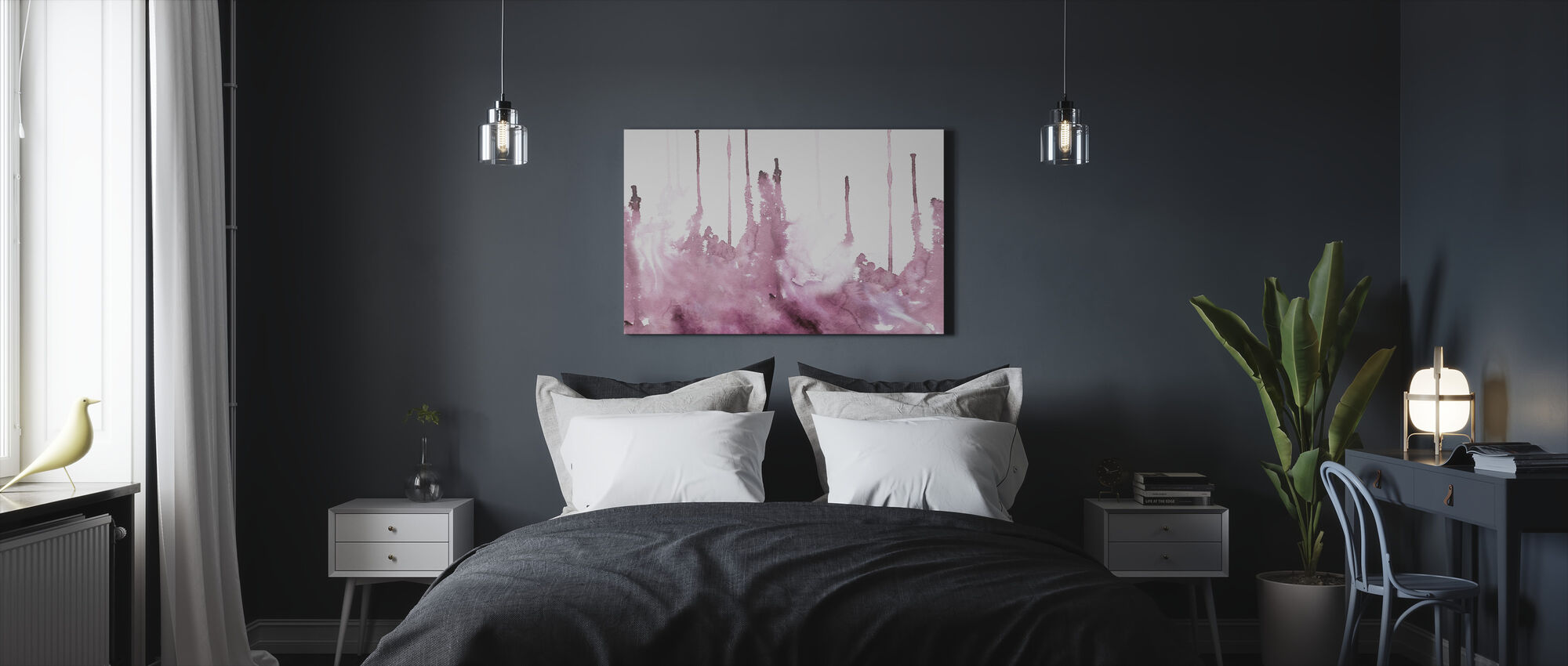 Watercolor Study - Rosé - Canvas print - Bedroom
