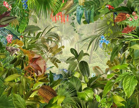 Jungle High Quality Wall Murals Photowall