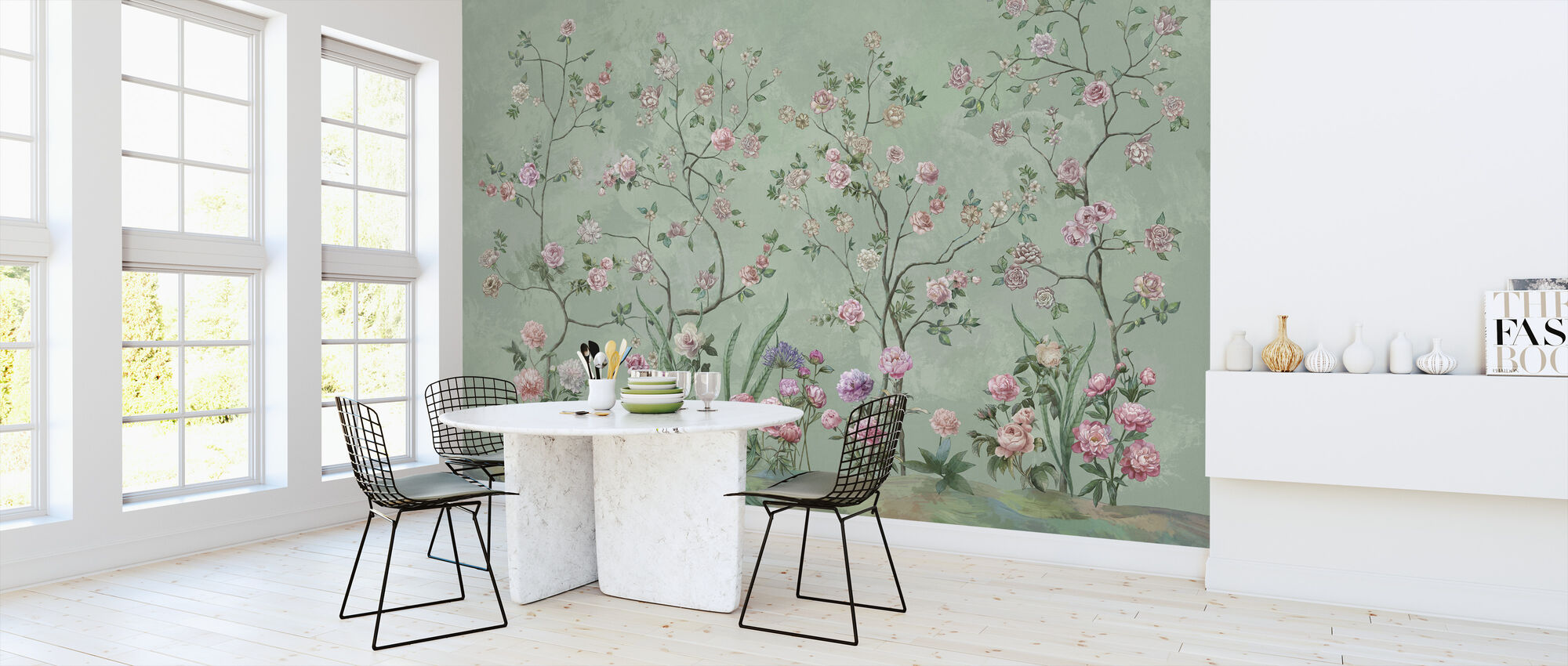 Flowers Patio - Wallpaper - Kitchen