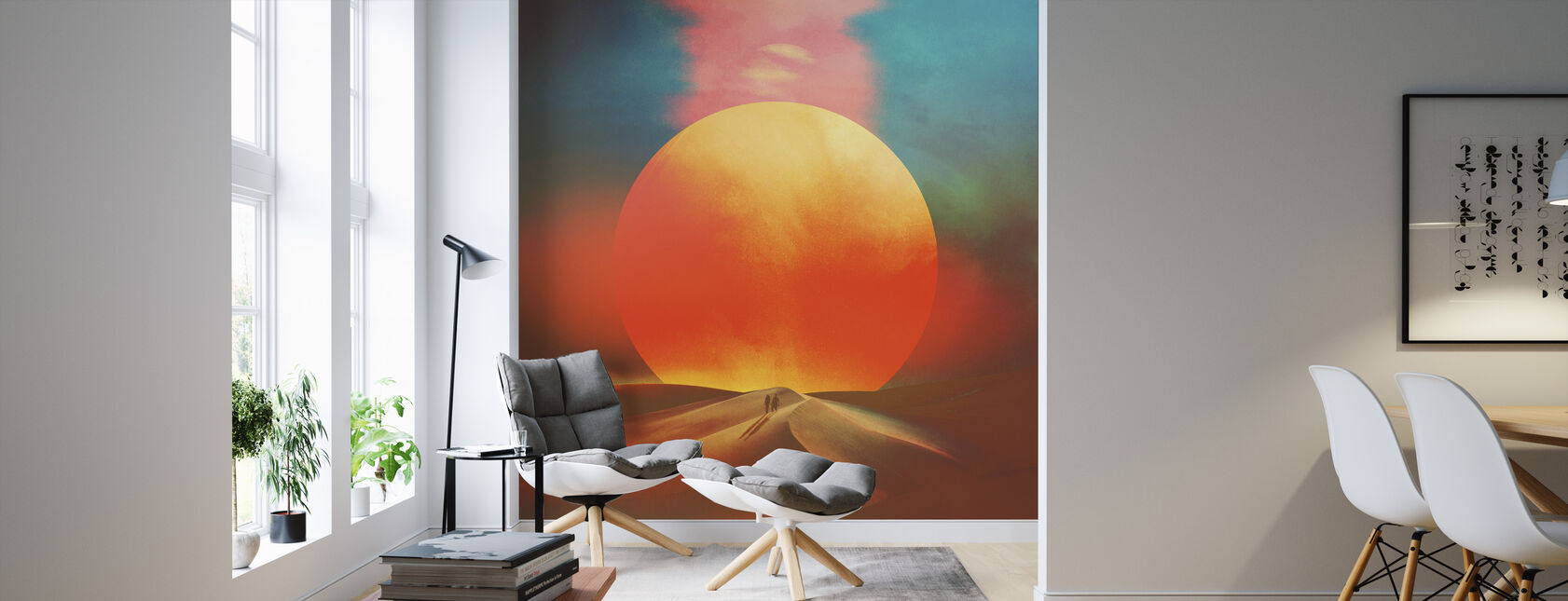 Setting Sun - Wallpaper - Living Room