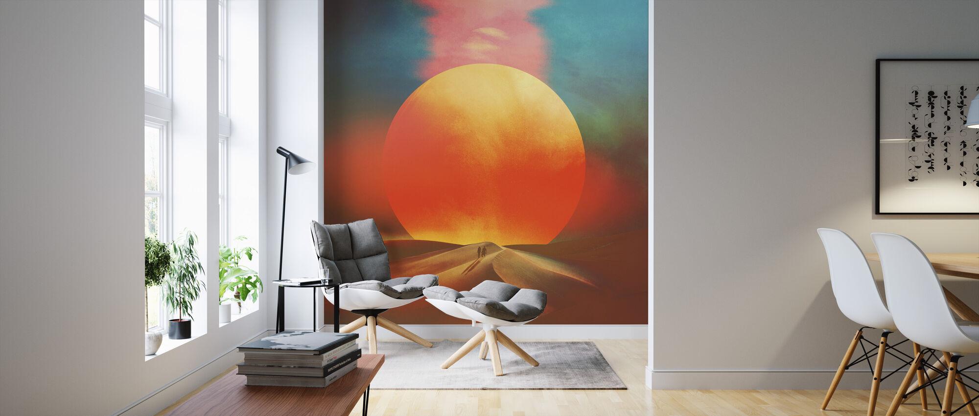Innstilling av sol - Tapet - Stue