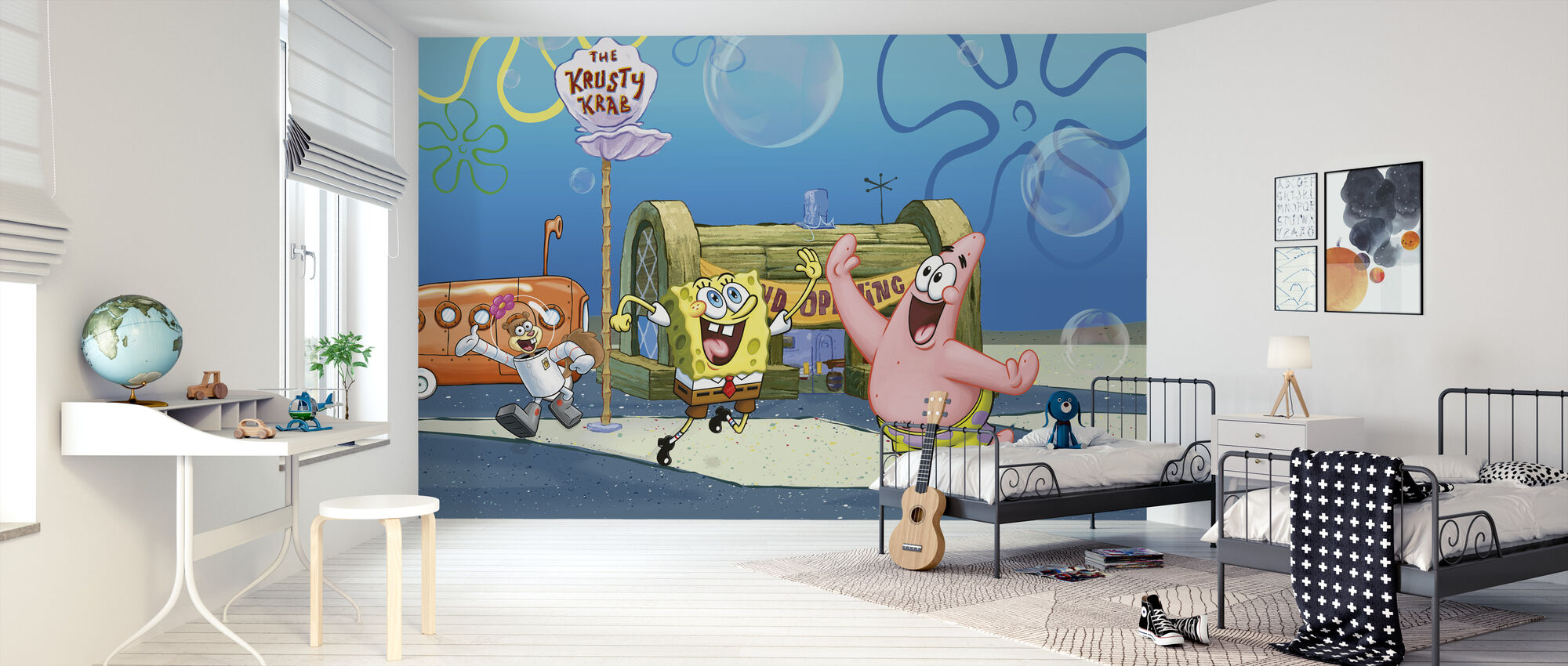 Sponge Bob - Grand åpning på Krusty Krab - Tapet - Barnerom