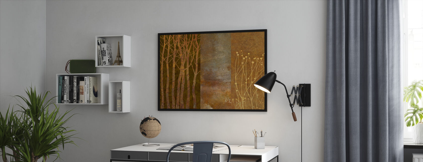 Collage in Copper - Framed print - Office