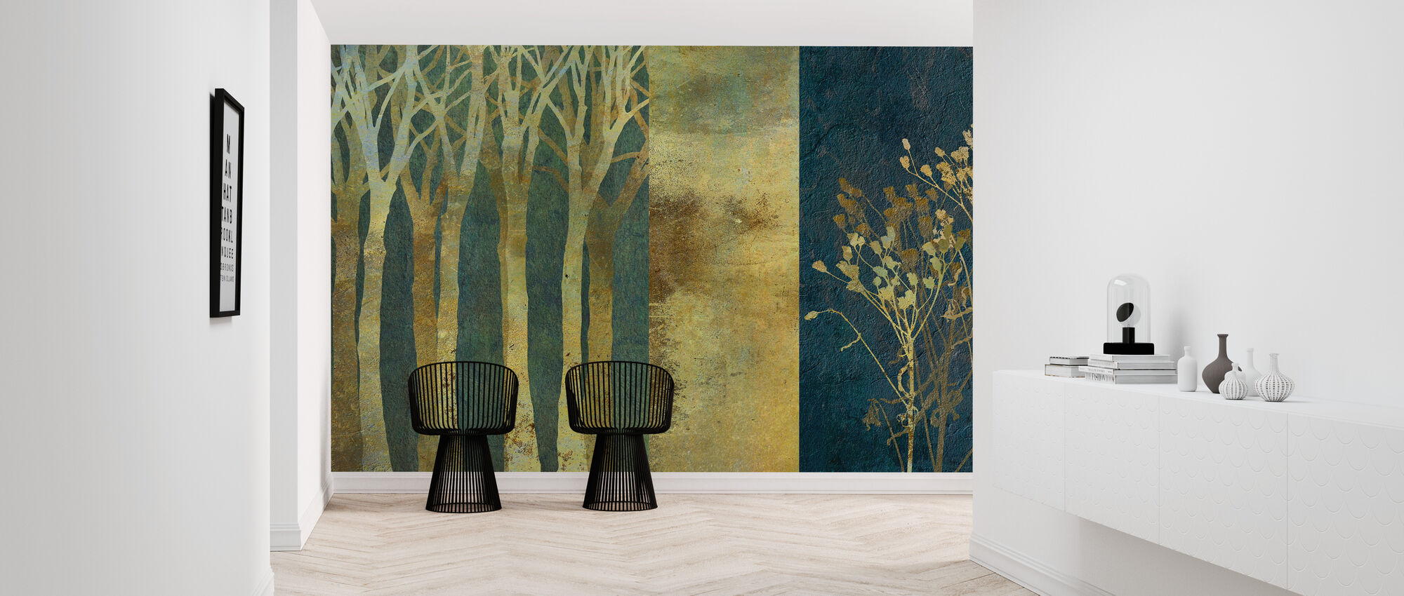Collage in Gold - Wallpaper - Hallway
