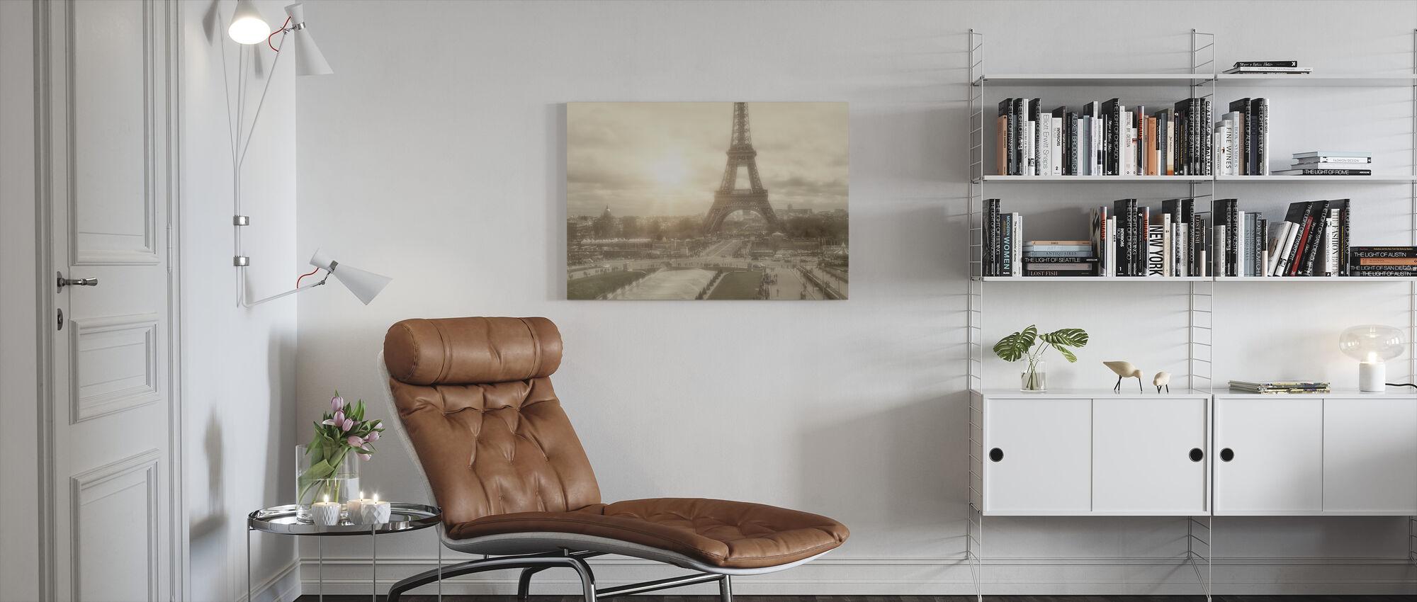 Eiffel Tower and Jardin du Trocadero - Canvas print - Living Room