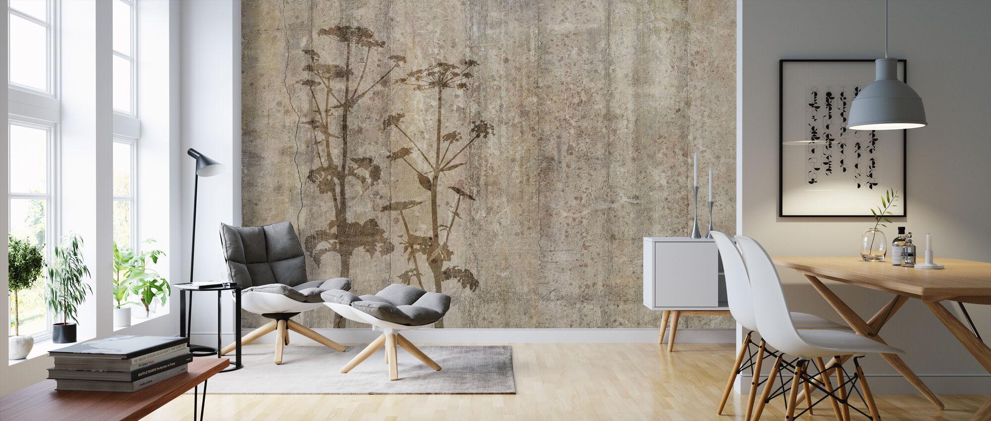 Riesen-Hogweed mit Betonwand - Tapete - Wohnzimmer