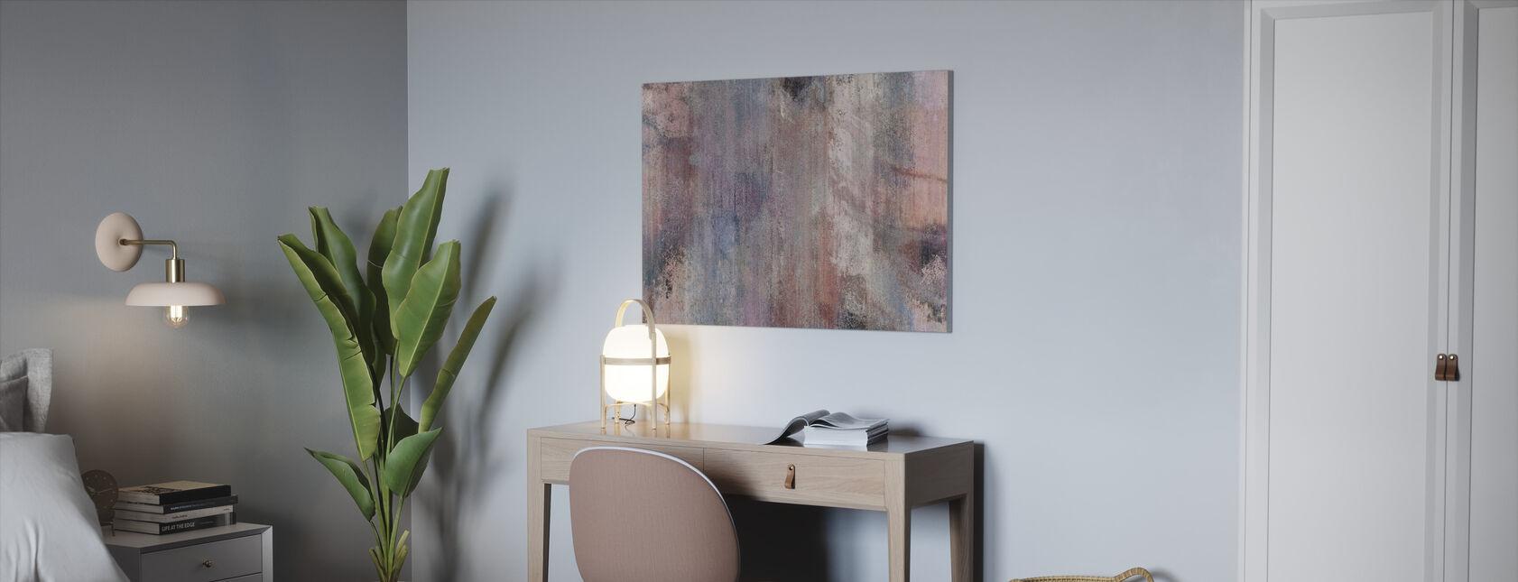 Rosa grå vegg - Lerretsbilde - Kontor