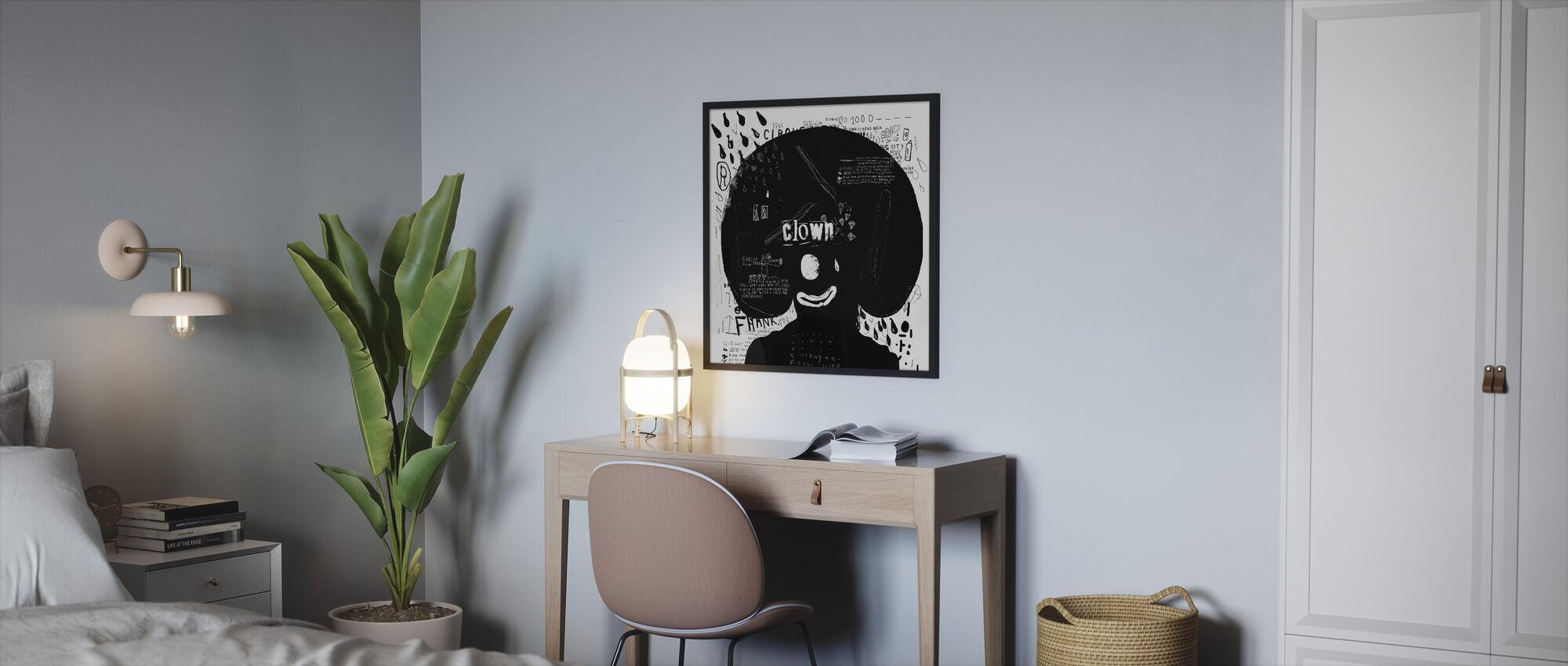 Clown - Framed print - Bedroom