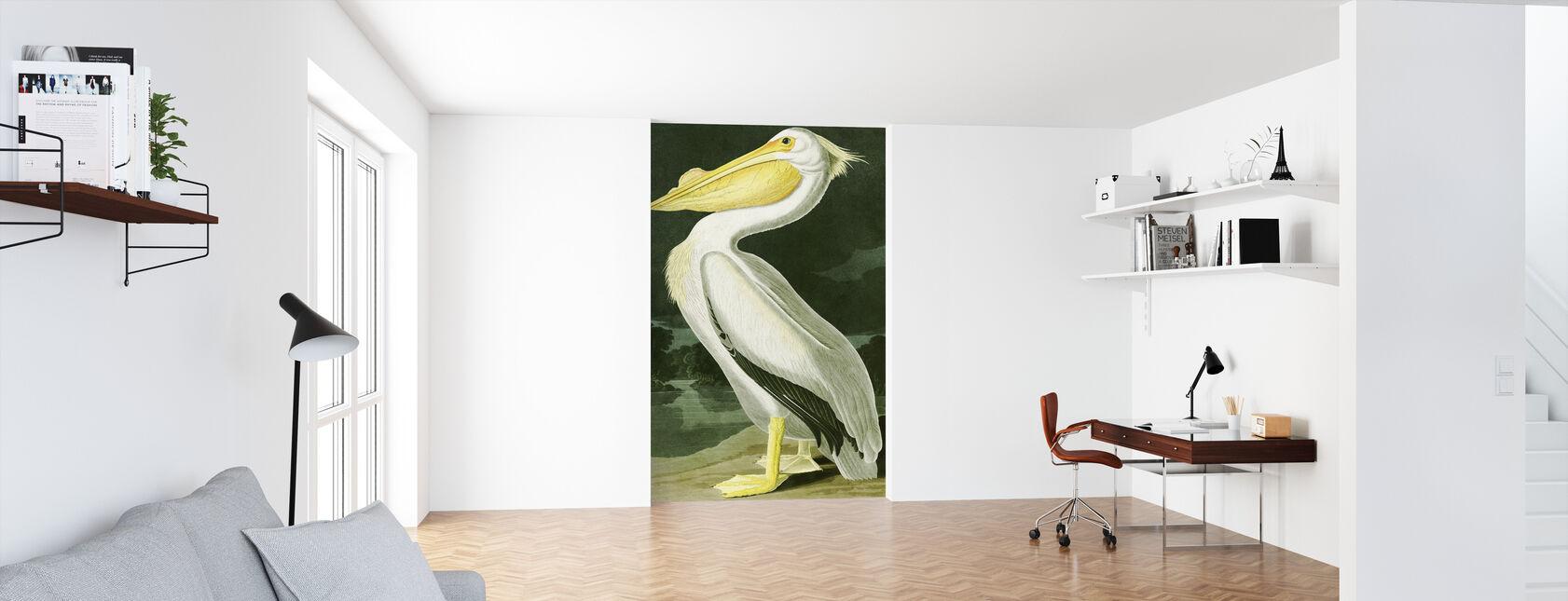 White Pelican - John James Audubon - Wallpaper - Office