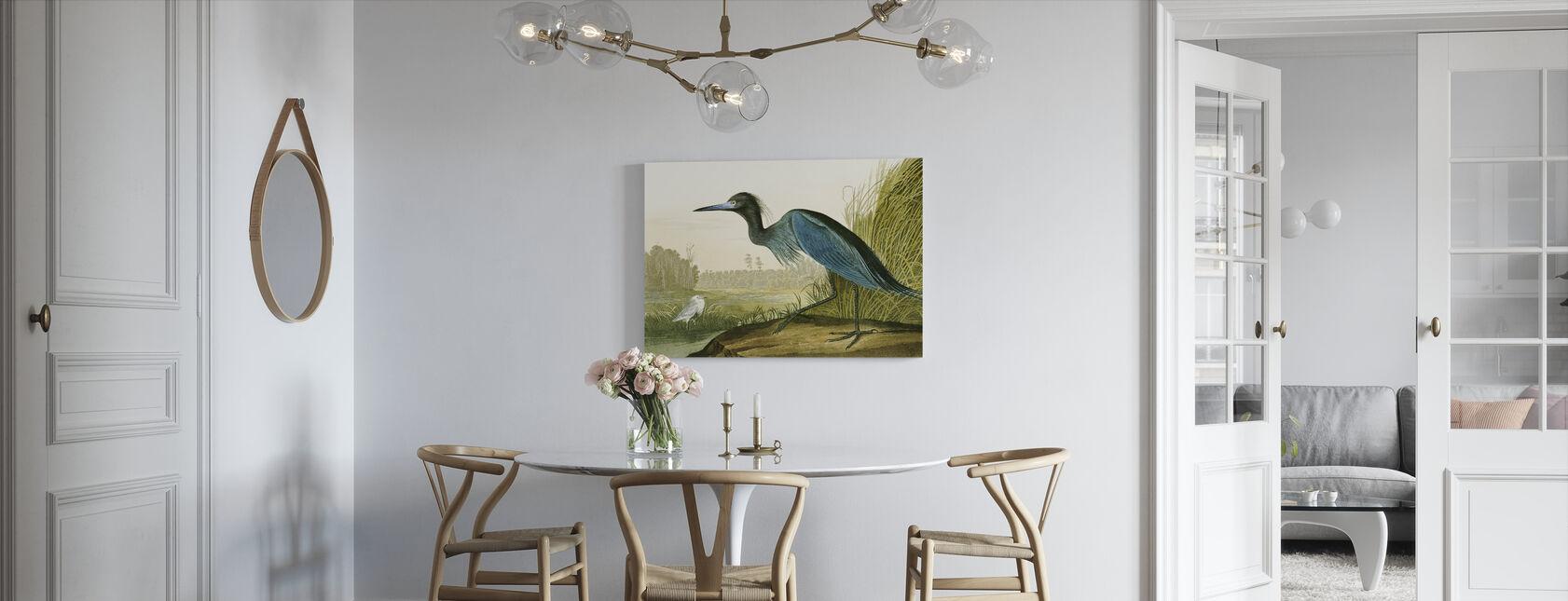Little Blue Heron - John James Audubon - Canvas print - Kitchen