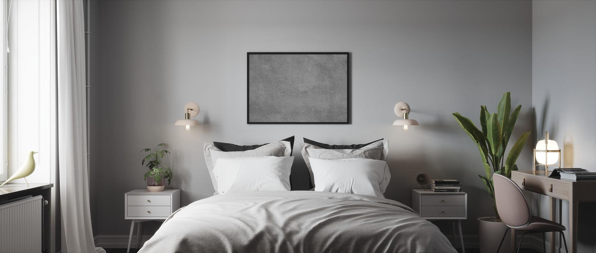 Muur van massief beton - Ingelijste print - Slaapkamer