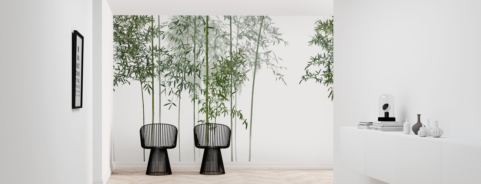 Bamboo Trees View - Wallpaper - Hallway