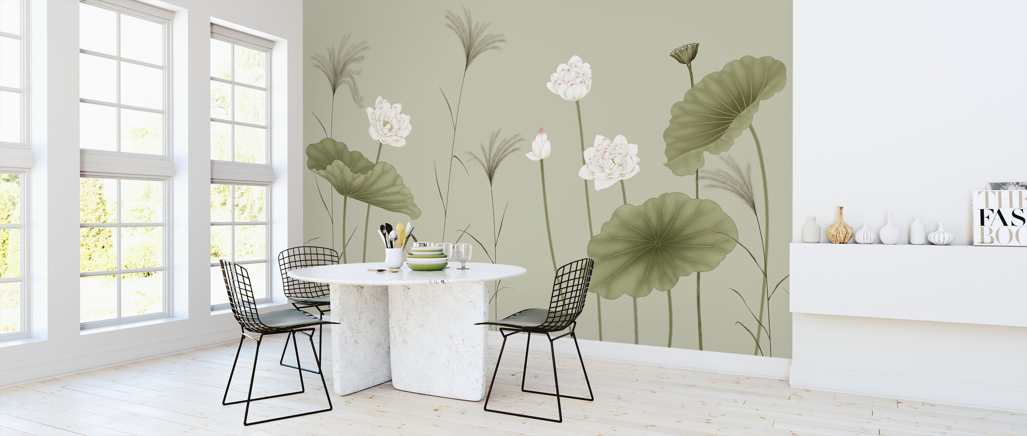 Let It Grow - Pea - Wallpaper - Kitchen