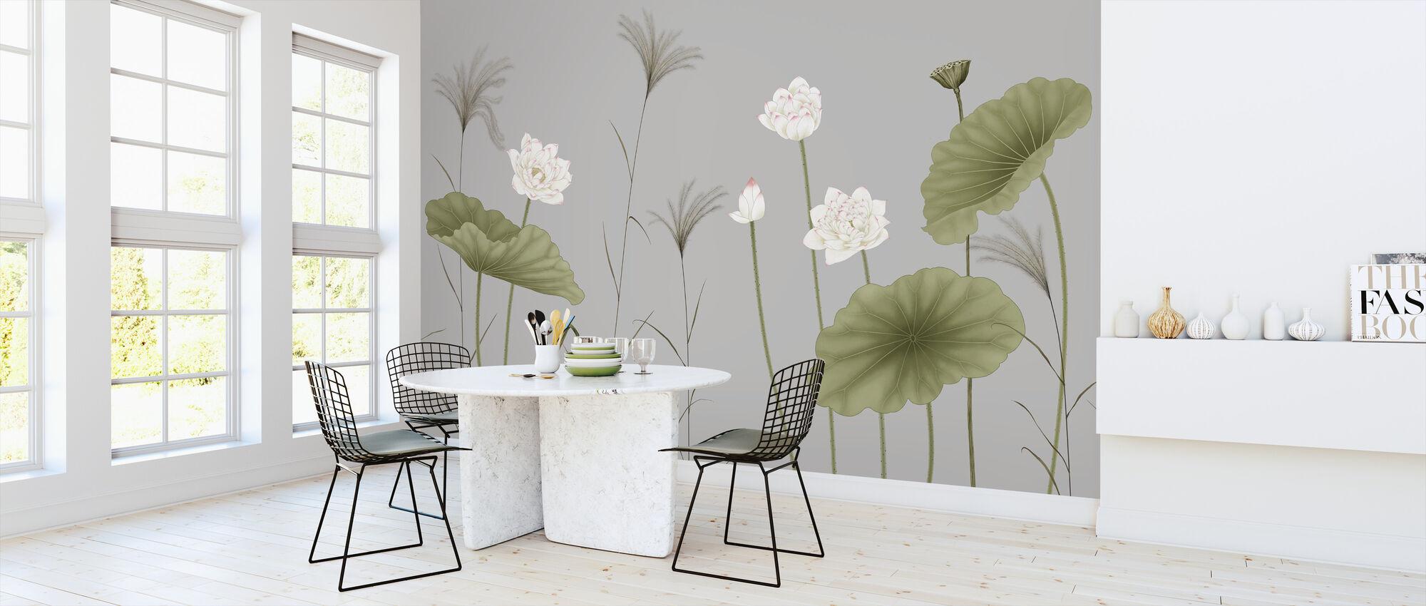 Let It Grow - Silver - Wallpaper - Kitchen