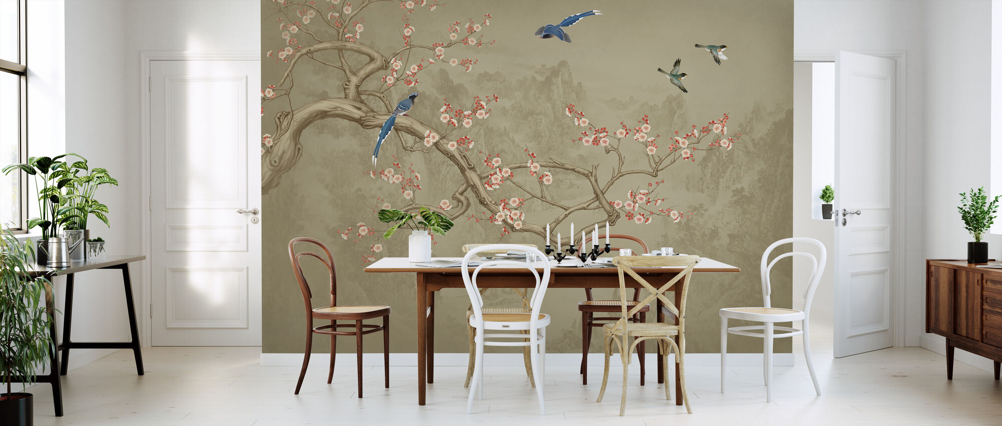 Birds heights - Cocoa - Wallpaper - Kitchen
