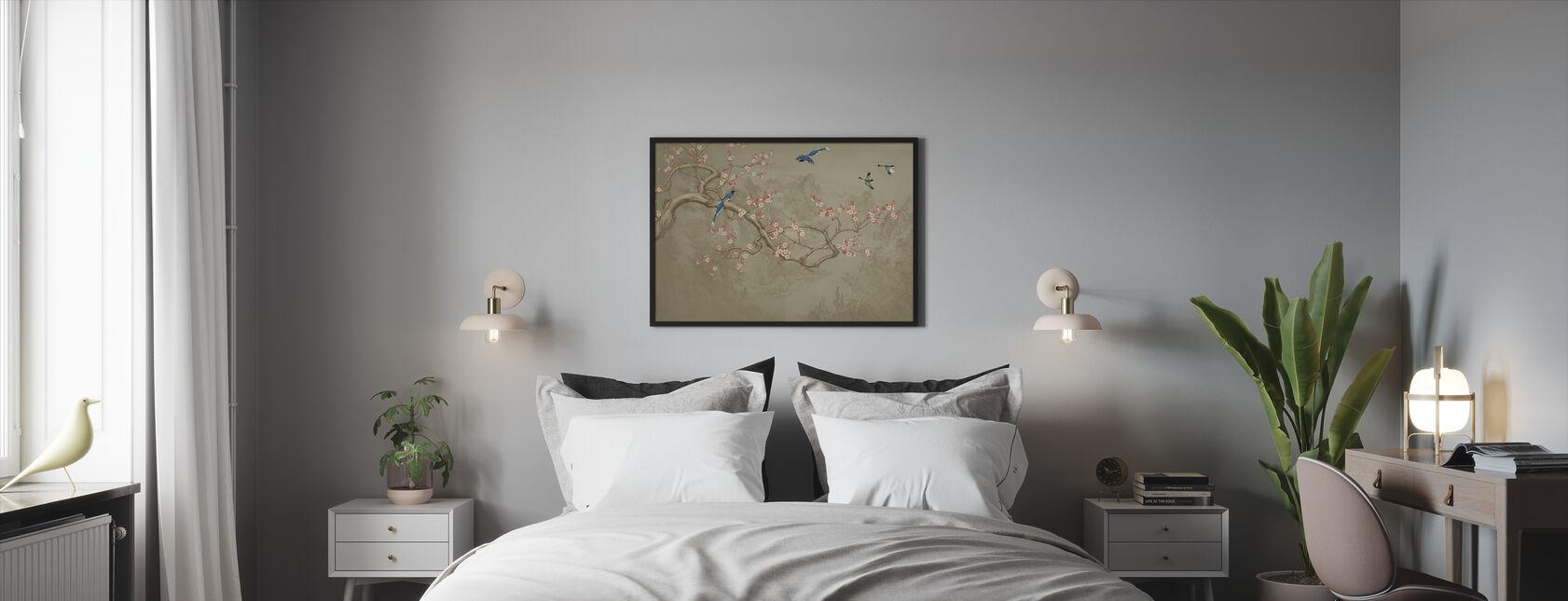 Birds heights - Cocoa - Framed print - Bedroom