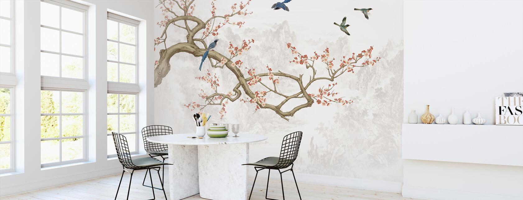 Vogelhoogten - Behang - Keuken
