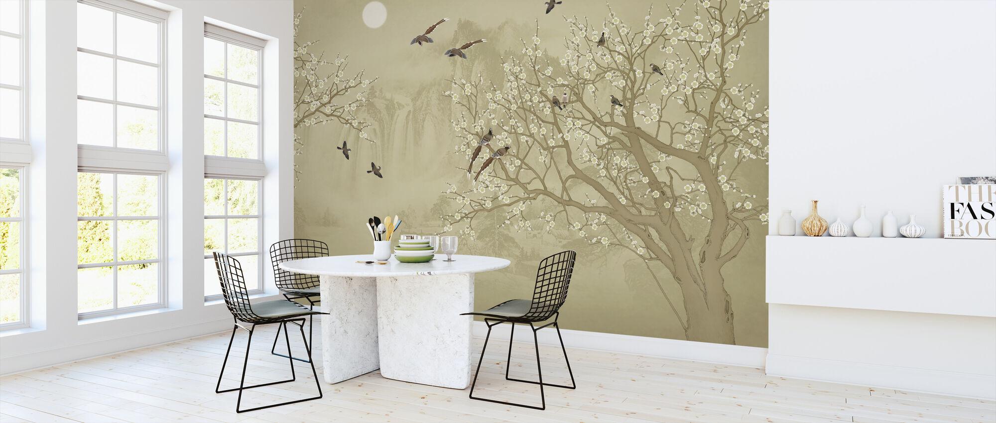 Birds Home - Hazel - Wallpaper - Kitchen