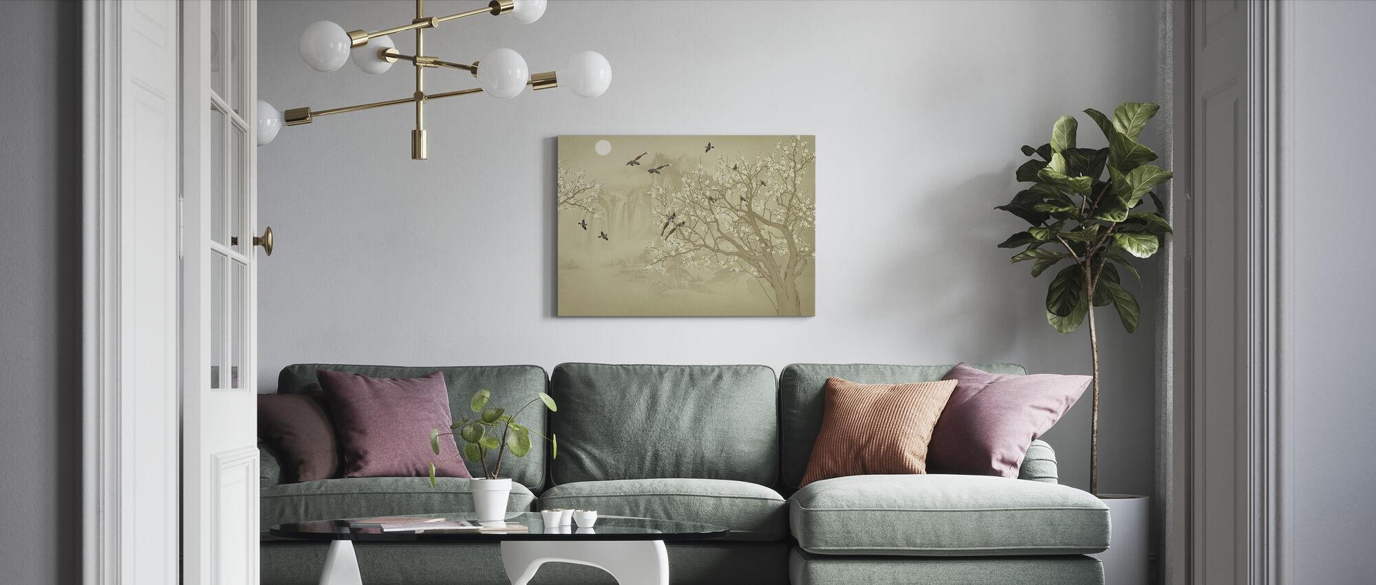 Birds Home - Hazel - Canvas print - Living Room