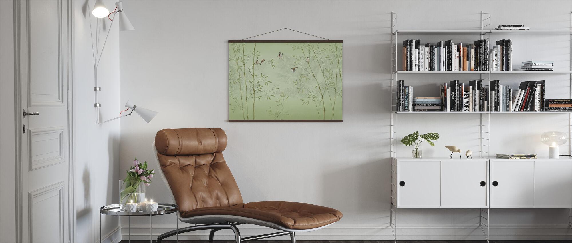 Bamboe Vogels -Smaragd - Poster - Woonkamer
