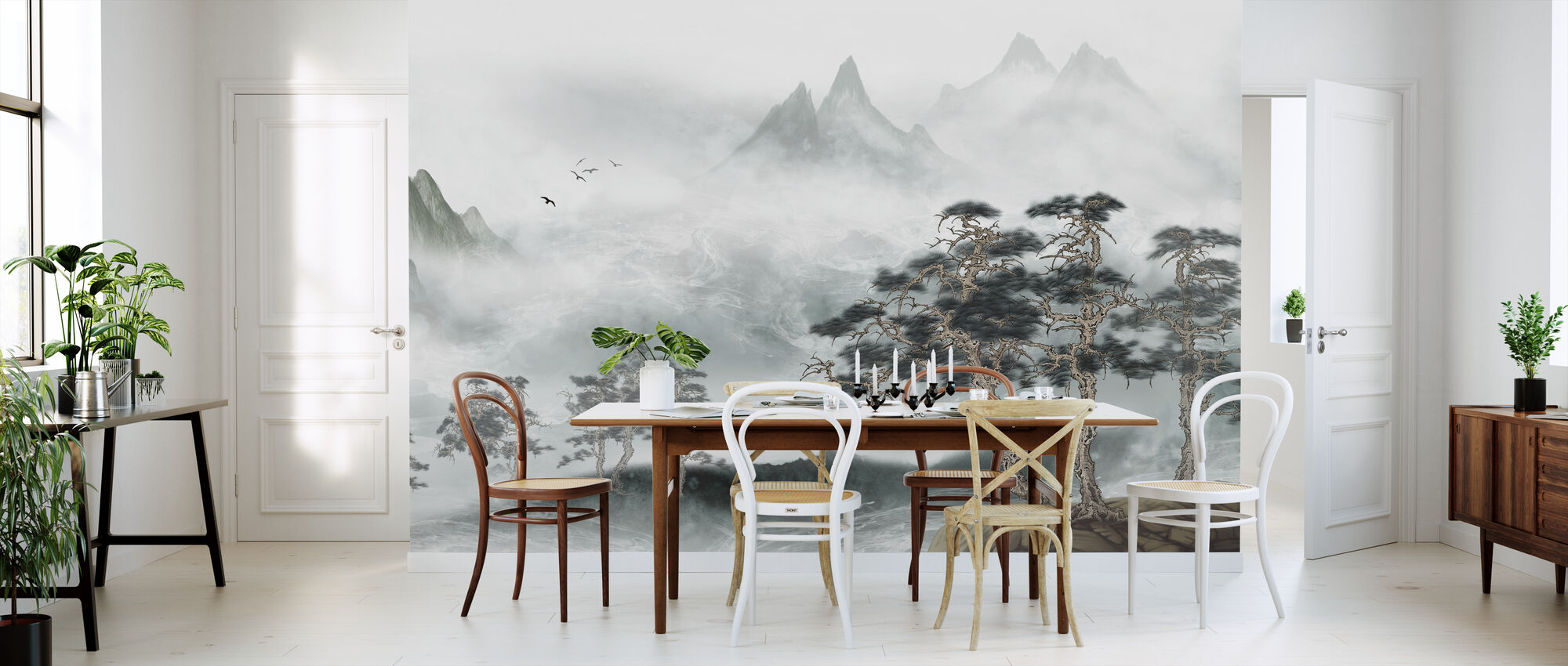Misty Landscape - Wallpaper - Kitchen