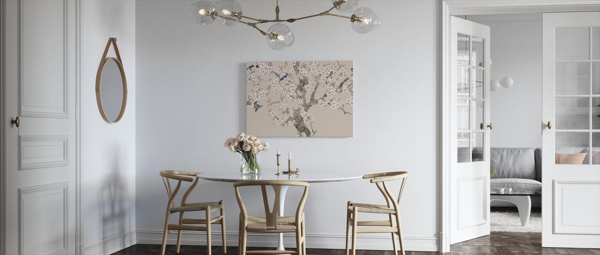 Doux Birds Home - Peach - Canvas print - Kitchen