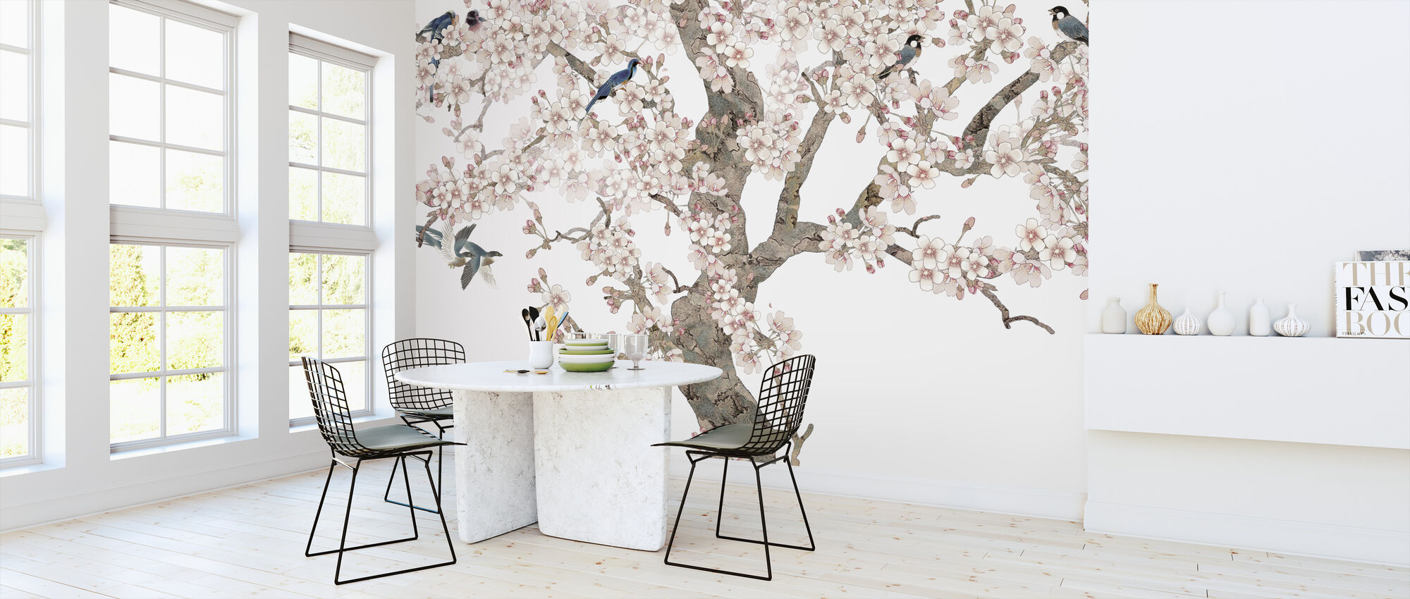 Doux Birds Home - Wallpaper - Kitchen