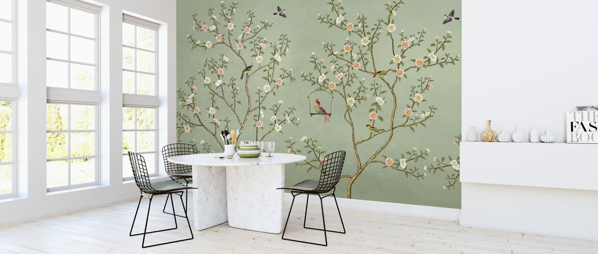 New Chinoiserie - Emerald - Wallpaper - Kitchen