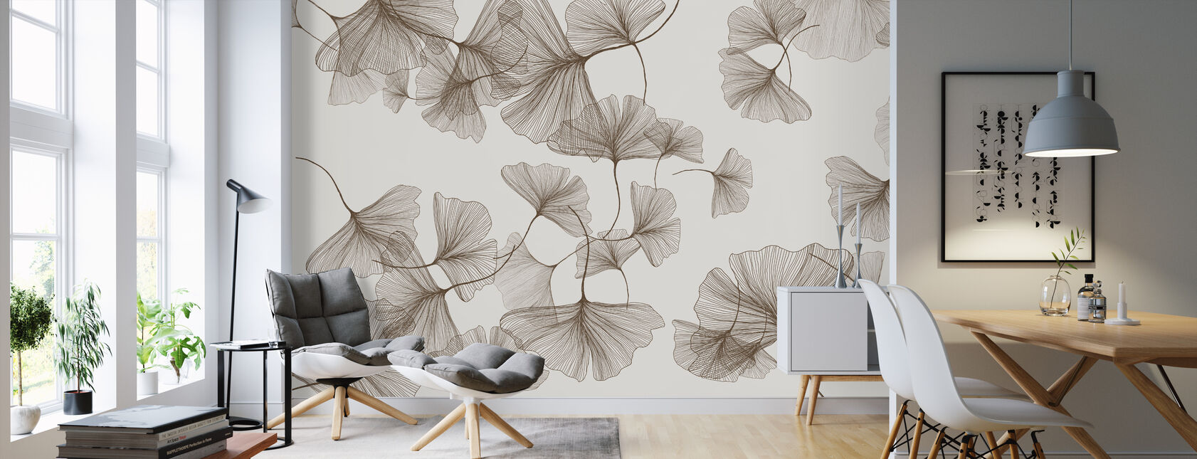 - Lamella. - Yeah - Wallpaper - Living Room