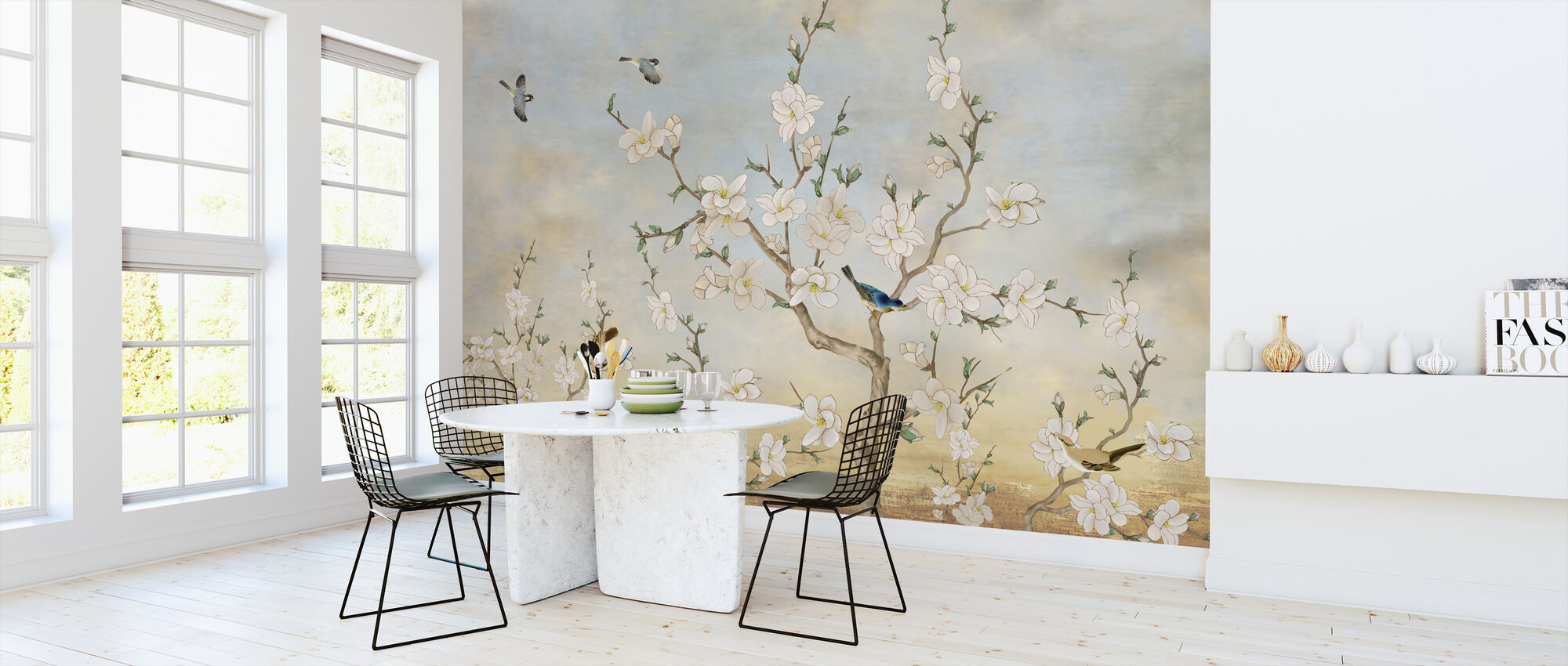 Birds Flora - Wallpaper - Kitchen