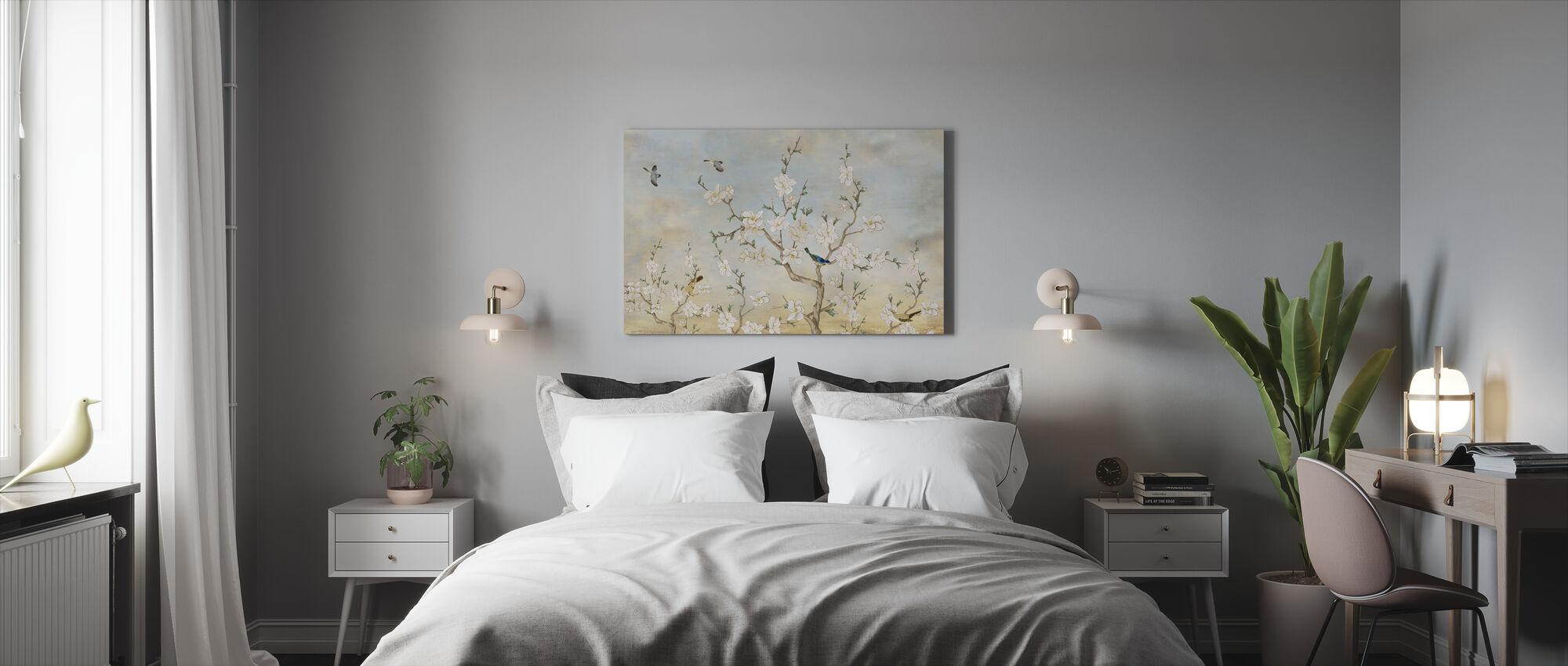 Birds Flora - Canvas print - Bedroom