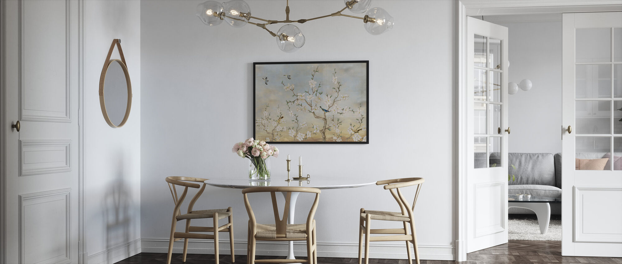 Birds Flora - Framed print - Kitchen