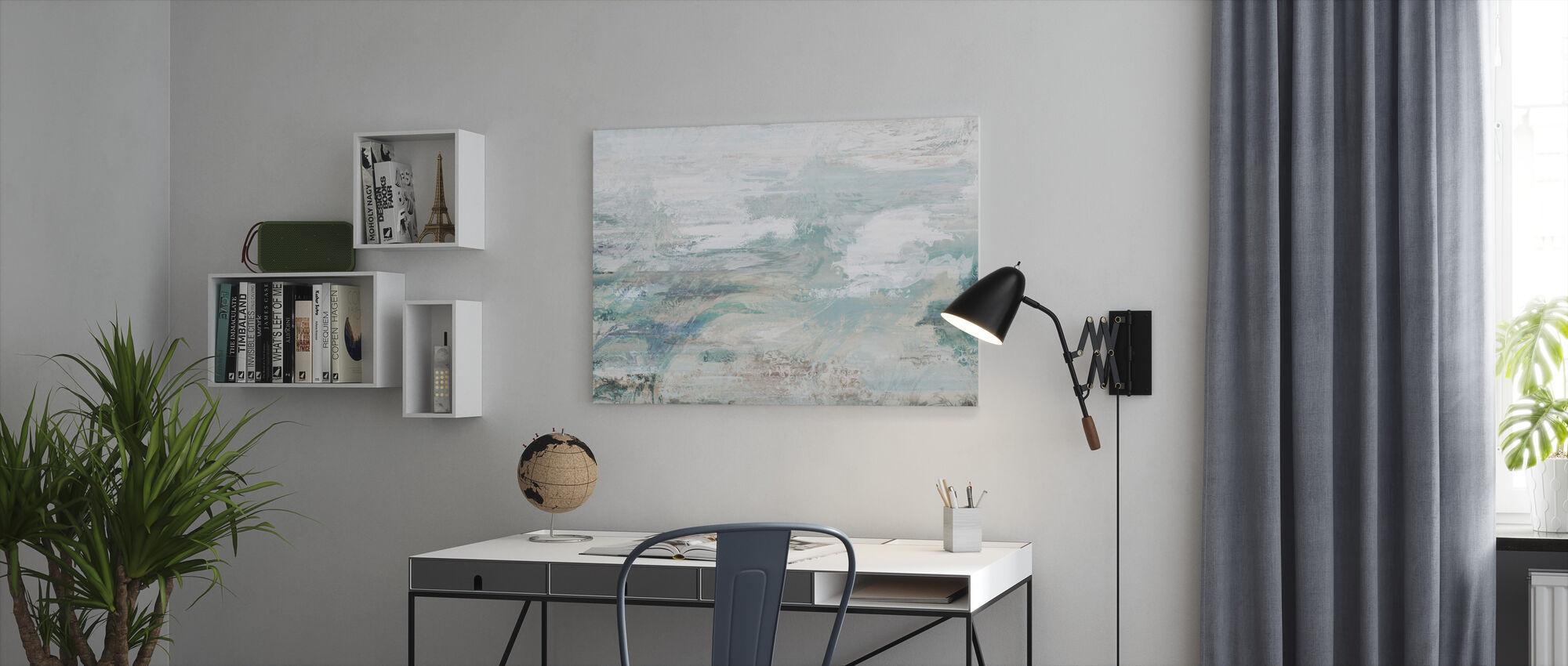 Zee- en lucht-extract - Canvas print - Kantoor