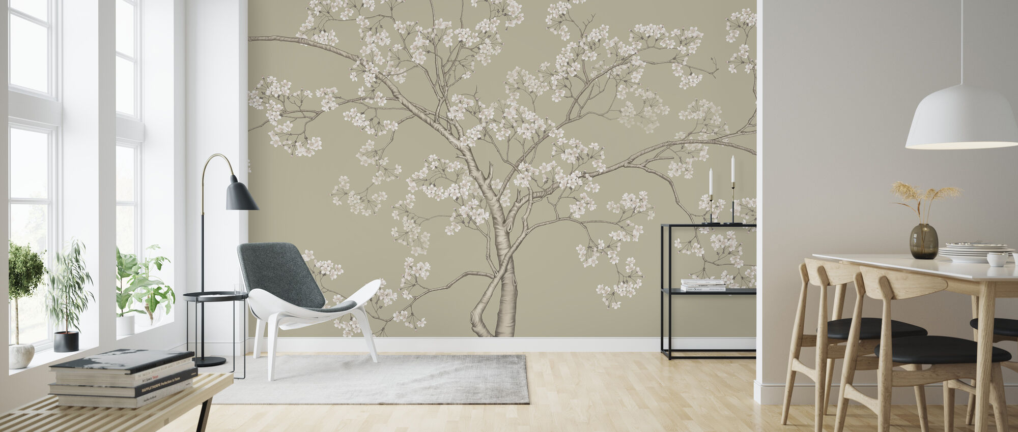 The Tree - Fawn - Wallpaper - Living Room