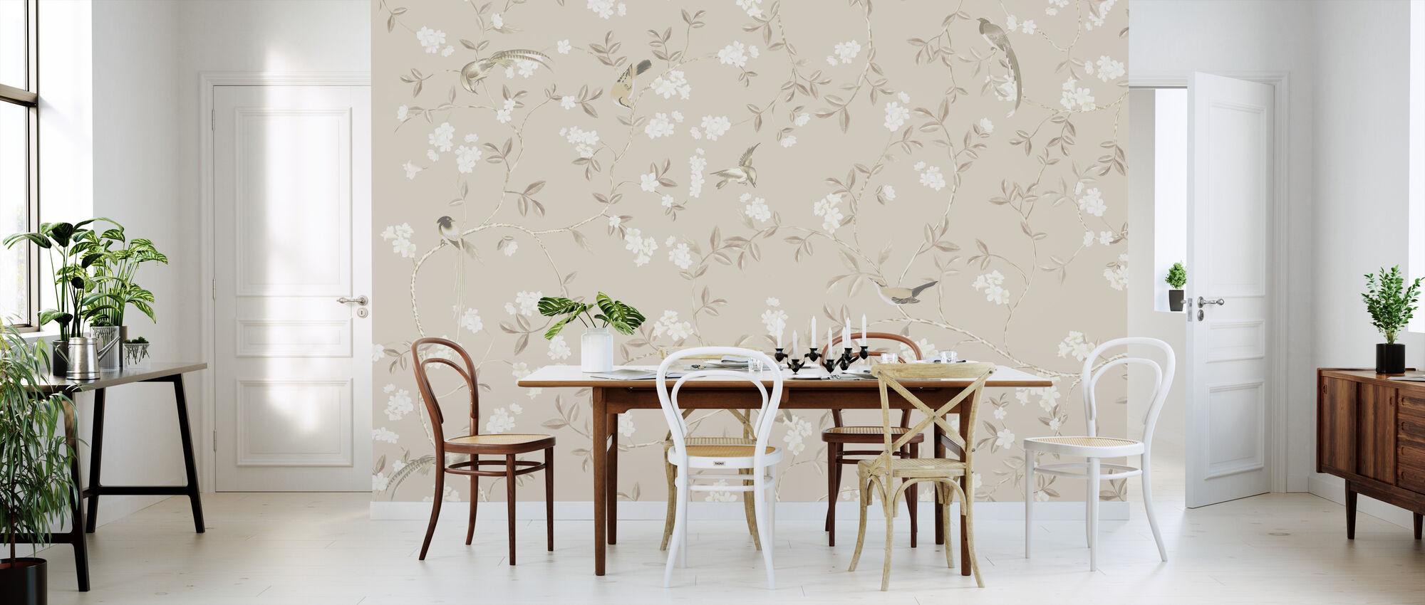 Birds and Flowers - Cream - Wallpaper - Kitchen
