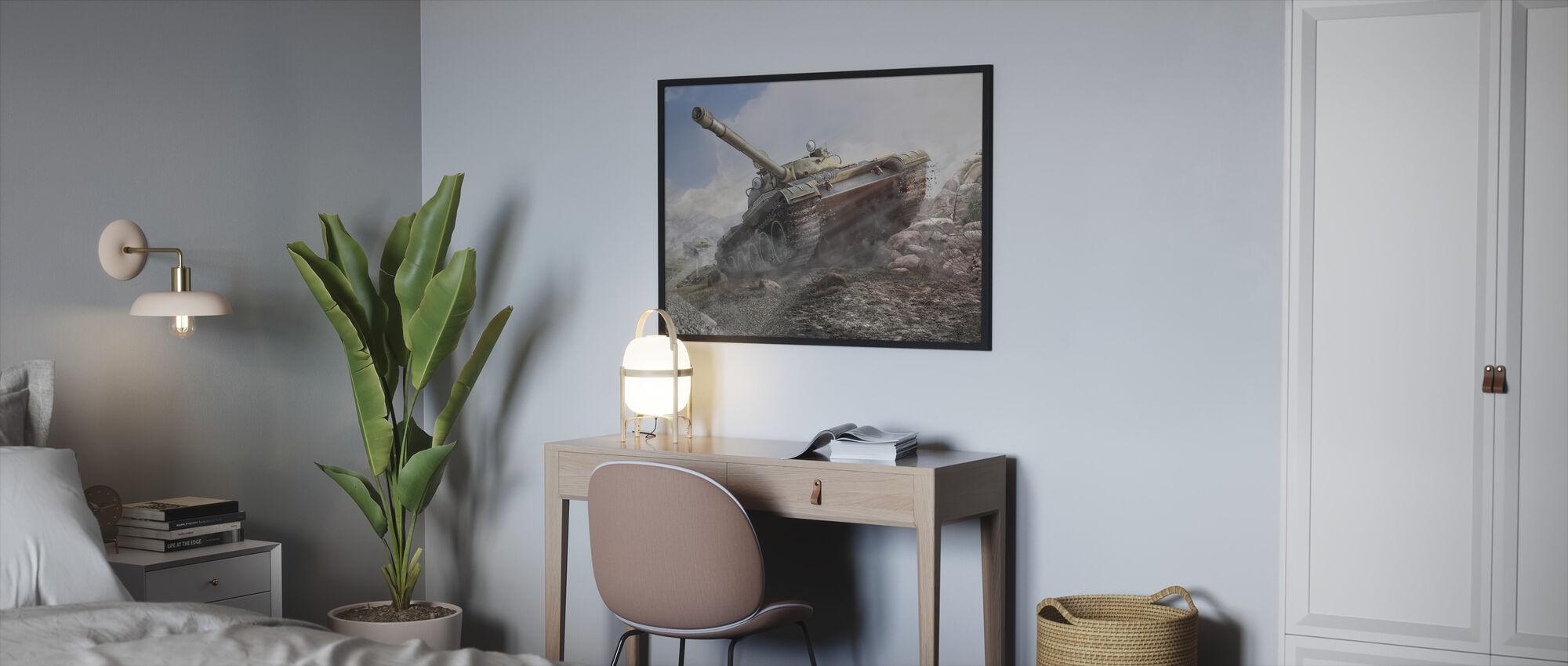 Tank T-62A - Framed print - Bedroom