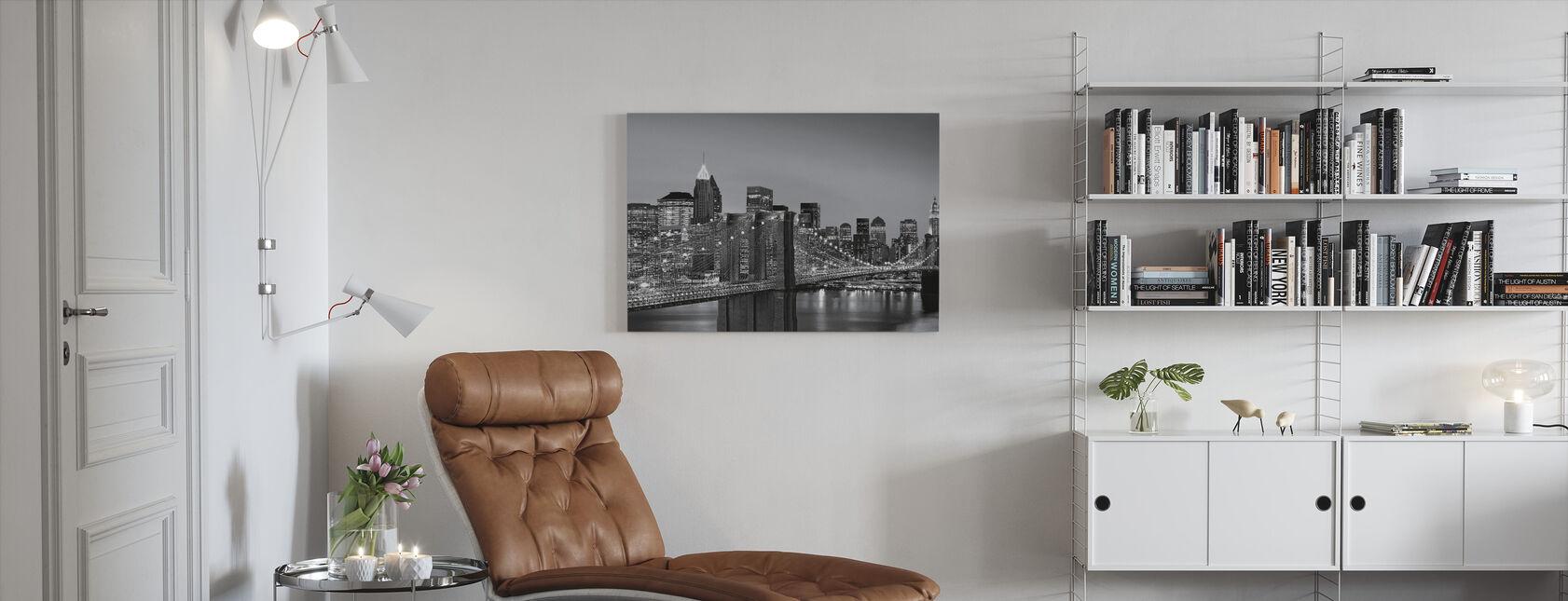 New York Skyline - Billede på lærred - Stue