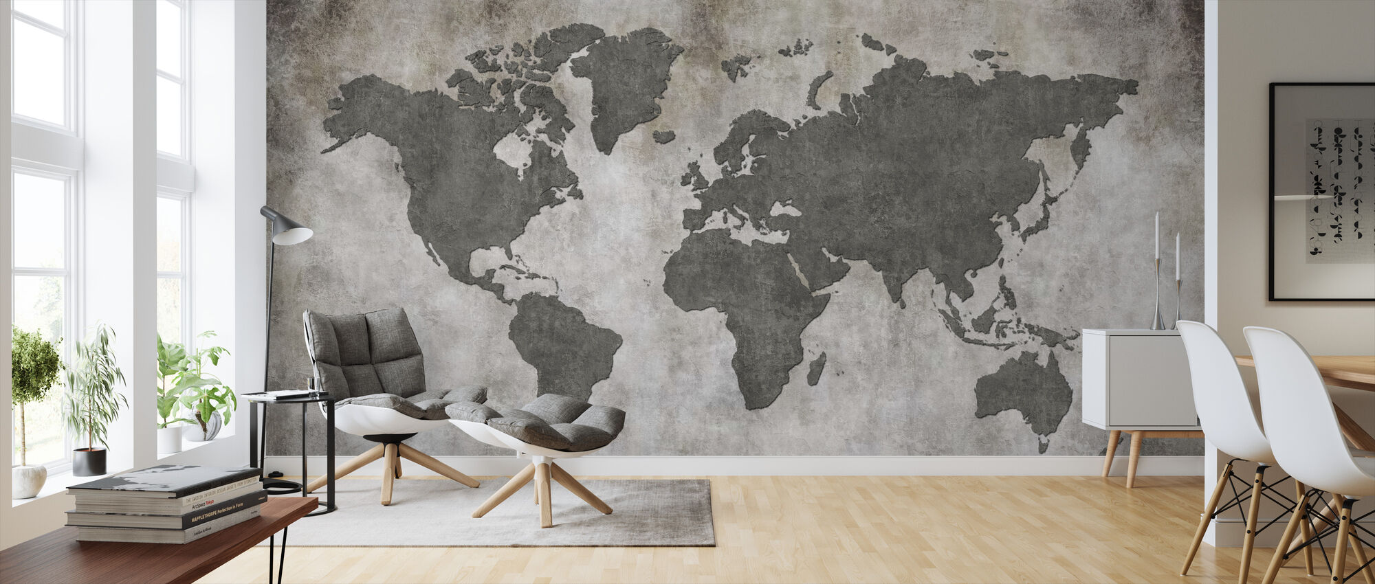 Frayed Wall World Kartta - Tapetti - Olohuone