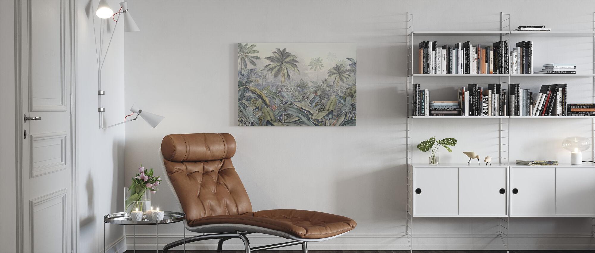 Tropical Jungle - Vivid - Canvas print - Living Room
