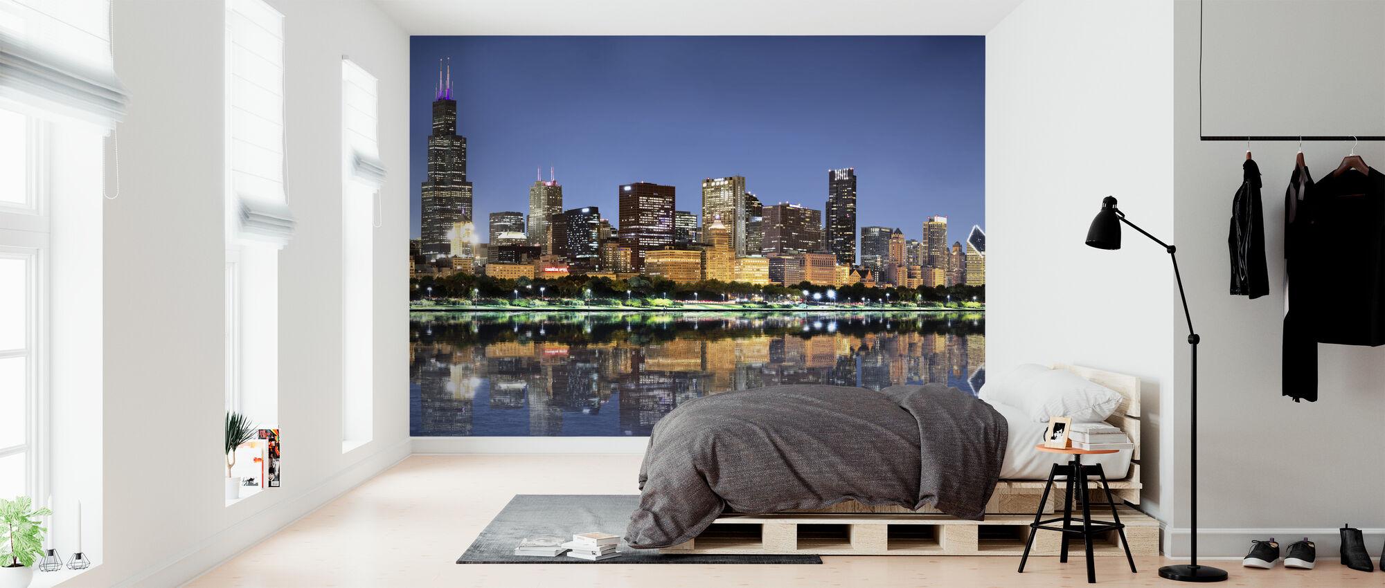 Chicago Skyline - Behang - Slaapkamer