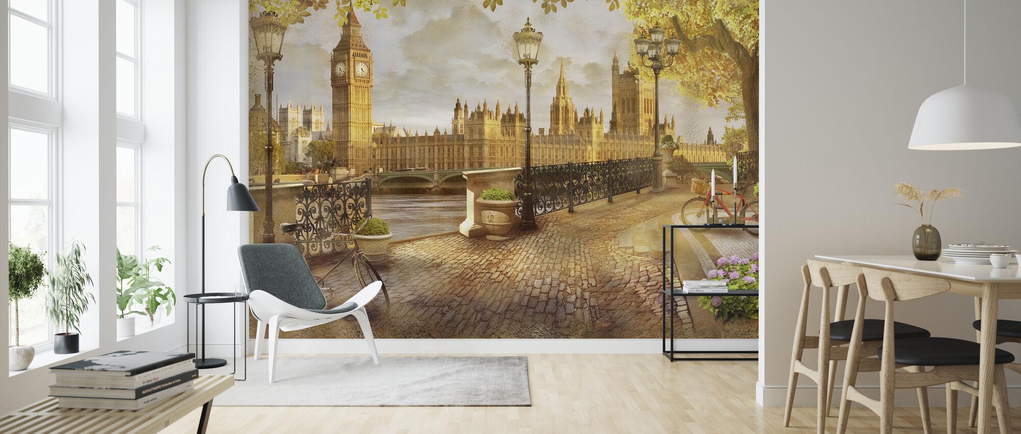 London Big Ben View - Wallpaper - Living Room