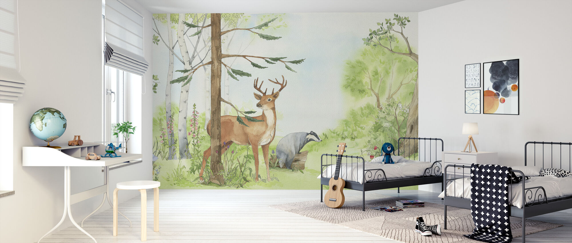 Forest Animal Friends - Wallpaper - Kids Room